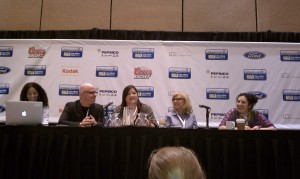 Pete Housley, Kelly Shibari, Nina Hartley and Jamye Waxman at Blogworld
